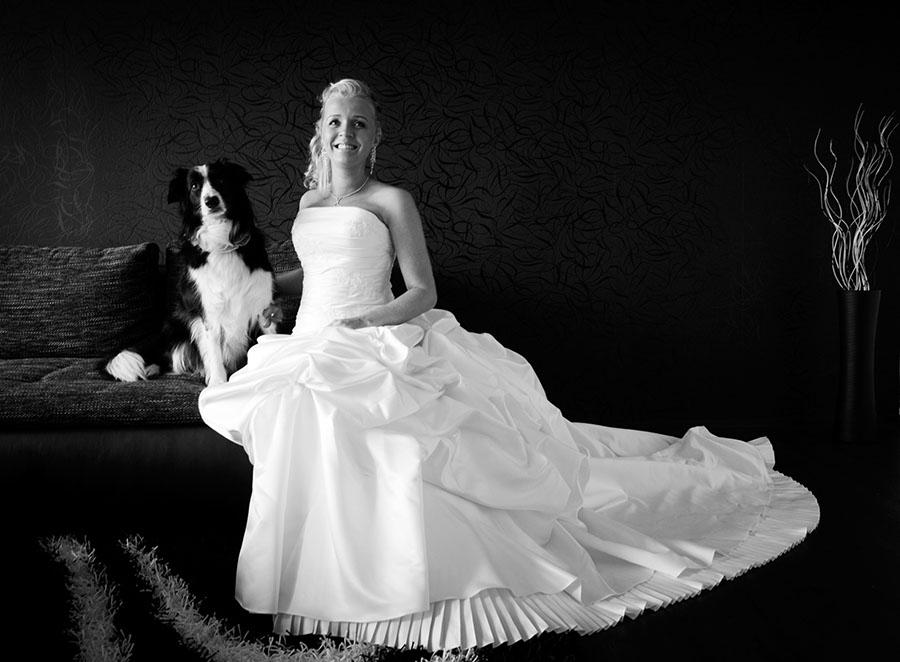 Jana Svojtková ve svatební den