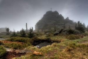 Hora Jizera v mlze