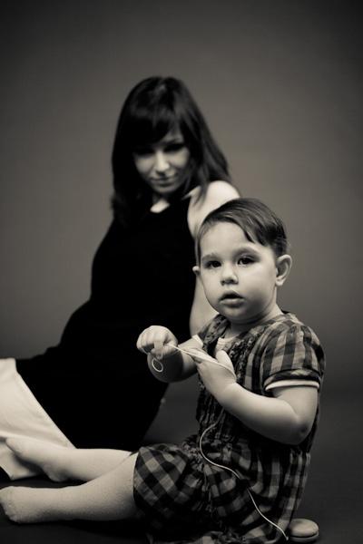 Retro snímek maminky a dcery